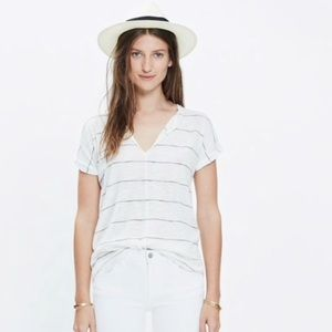 Madewell Turntable Calgary Stripe Tee Small